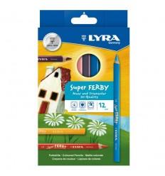 Набор цветных карандашей Super FERBY 890K12, лакированные, 12 цветов
