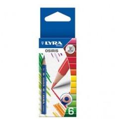 Набор цветных карандашей, короткие Lyra Osiris Short 451K06, 6 цветов