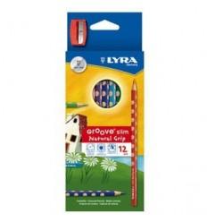 Набор цветных карандашей LYRA GROOVE SLIM 12 цветов