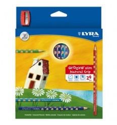 Набор цветных карандашей LYRA GROOVE SLIM 24 цвета