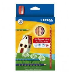 Набор цветных карандашей LYRA GROOVE SLIM 36 цветов
