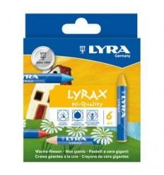 Восковые мелки LYRA LYRAX, 6 цветов