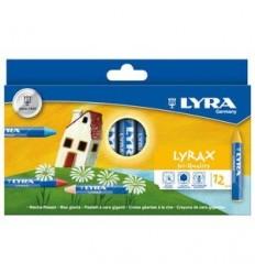Восковые мелки LYRA LYRAX, 12 цветов