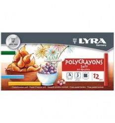 Набор пастельных мелков Lyra Polycrayons Soft, 12 цветов
