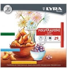 Набор пастельных мелков Lyra Polycrayons Soft, 24 цвета