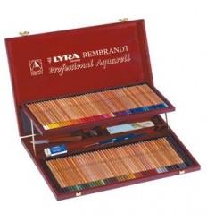 Набор цветных акварельных карандашей Lyra Rembrandt Aquarell в деревянной коробке