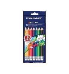 Набор цветных карандашей с ластиком STAEDTLER Noris Club, 12 цветов