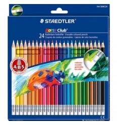 Набор цветных карандашей с ластиком STAEDTLER Noris Club, 24 цвета