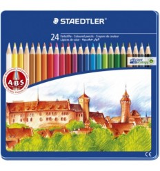 Набор цветных карандашей STAEDTLER Noris Club, 24 цвета в металлической коробке