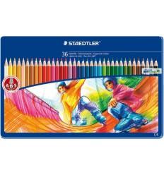 Набор цветных карандашей STAEDTLER Noris Club, 36 цветов в металлической коробке