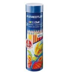 Набор цветных карандашей STAEDTLER Noris Club, 24 цвета в металлической банке