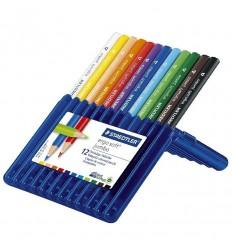 Набор треугольных цветных карандашей STAEDTLER Ergosoft jumbo, 12 цветов
