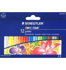Масляная пастель STAEDTLER Noris Club jumbo, 12 цветов, 11 мм
