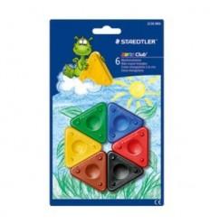 Восковые мелки треугольные STAEDTLER Noris Club,6 цветов