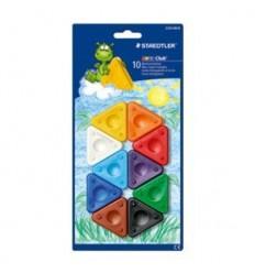 Восковые мелки треугольные STAEDTLER Noris Club, 10 цветов