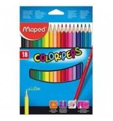 Карандаши цветные треугольные Maped COLOR PEPS, 18 цветов