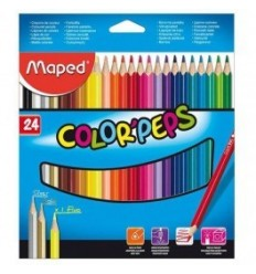 Карандаши цветные треугольные Maped COLOR PEPS, 24 цвета