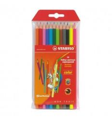 Набор треугольных цветных карандашей Stabilo Trio, 12 цветов