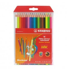 Набор шестигранных цветных карандашей Stabilo Color, 18 цветов