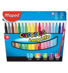 Фломастеры Maped COLOR PEPS Long Life 18 цветов