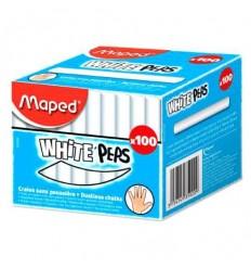 Мел круглый белый MAPED WHITE'PEPS, 100 шт.