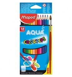 Карандаши цветные акварельные Maped COLOR PEPS, 12 цветов и кисть