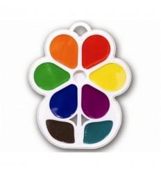 Акварель медовая Цветочек Луч, 8 цветов