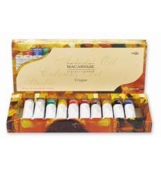 Краски масляные Студия ГАММА, 10цветов по 18мл