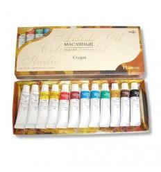 Краски масляные Студия ГАММА, 12цветов по 9мл