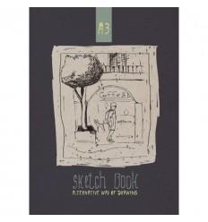 Альбом для рисования для эскизов на склейке А3, 40л., 80гр