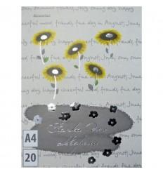Папка для рисования для акварели, А4, 20л., 200гр