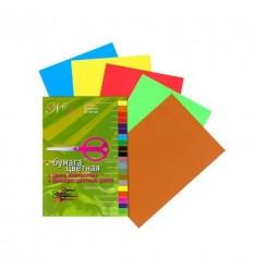Набор цветной бумаги, металлизированных и флюоресцентных цветов, №1 Альт, А4, 20 листов - 20 цветов