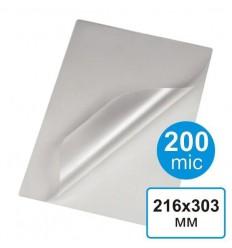 Пленка для ламинирования  216 х 303, А4, 200 мкм (100 шт)