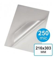 Пленка для ламинирования  216 х 303, А4, 250 мкм (100 шт)