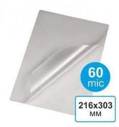 Пленка для ламинирования  216 х 303, А4, 60 мкм (100 шт)