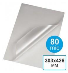 Пленка для ламинирования 303 х 426, А3, 80 мкм (100 шт)