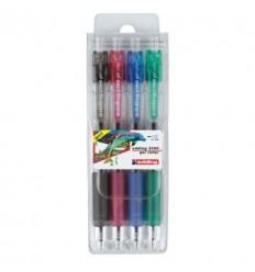 Набор гелевых автоматических ручек  Edding 2190, 0,7мм 4 цвета
