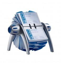 Картотека на 400 визит. DURABLE VISIFIX Flip вращающаяся 2417-23 сине/сер