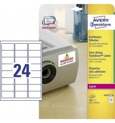 Этикетки Тройная стойкость TripleBond Avery Zweckform 63,5x33,9мм, А4, 20 листов, 480 этикеток, L6141-20
