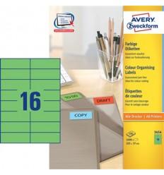 Этикетки универсальные Avery Zweckform 105x37мм, желтые, А4, 100листов, 1600 этикеток