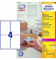 Этикетки адресные белые Blockout, 99,1x139мм, Avery Zweckform, 100 листов, 400 этикеток, L7169-100