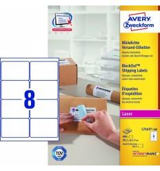 Этикетки адресные белые Blockout, 99,1x67,7мм, Avery Zweckform, 100 листов, 800 этикеток, L7165-100