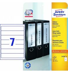 Этикетки для папок-регистраторов белые Avery Zweckform A4, 192×38мм, 25 листов, 175 этикеток, L4760-25