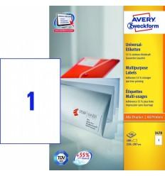 Этикетки универсальные Avery Zweckform 210x297мм, белые, А4, 100листов, 100 этикеток, Z3478