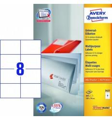 Этикетки универсальные Avery Zweckform 105x74мм, белые, А4, 100листов, 800 этикеток, Z3427