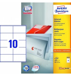 Этикетки универсальные Avery Zweckform 105x57мм, белые, А4, 100листов, 1000 этикеток, Z3425