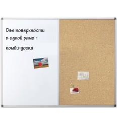 Доска комбинированная Magnetoplan SP 900х600мм, алюминиевая рама