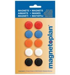 Магниты сигнальные Magnetoplan, диаметр 20мм, 10шт. в уп, разноцветные