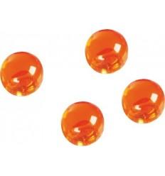 Магниты мини декоративные шарики Magnetoplan, диаметр 14мм, 4шт. в уп, прозрачные оранжевые