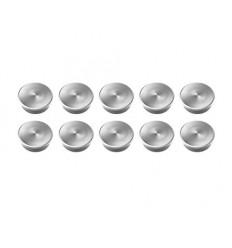 Магниты металлические мощные Forte Magnetoplan, 10 шт., сила 2,3кг, диаметр 20мм, серебристые
